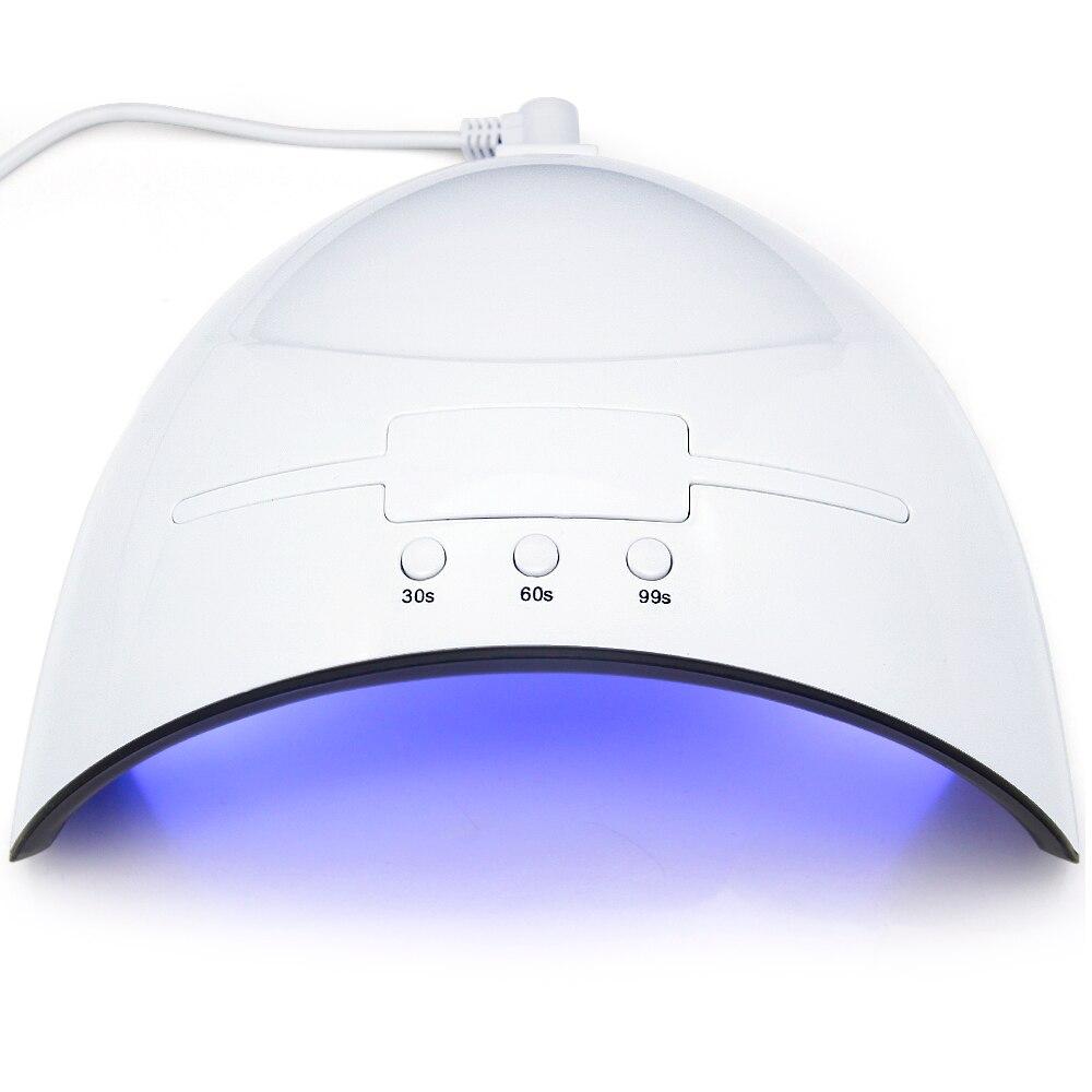 LKE 36 W Nagel Trockner LED UV Lampe Micro USB Nagel für Lampen Aushärtung LED Gel Builder 3 Timed Modus mit Automatische Sensor Nagel Trockner