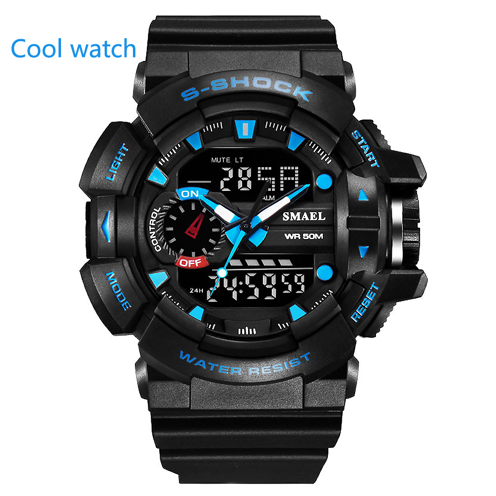 The latest fashion sports cool gold mens quartz digital watch mens sports watch luxury brand LED military waterproof watchThe latest fashion sports cool gold mens quartz digital watch mens sports watch luxury brand LED military waterproof watch