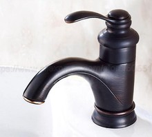 Oil Rubbed Bronze Single Handle Bathroom Hot/Cold Water Mixer Taps Basin Faucet Deck Mounted znf065 цены