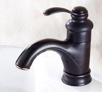 Oil Rubbed Bronze Single Handle Bathroom Hot/Cold Water Mixer Taps Basin Faucet Deck Mounted znf065 luxury spout deck mounted kitchen faucet oil rubbed bronze kitchen faucet single handle hole vessel mixer hot