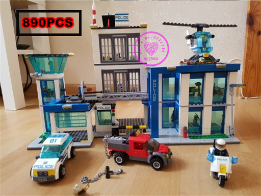 City Police Station model building kit blocks helicopter jail cell boys gift Compatible with lego city kid gift set lepin 02012 city deepwater exploration vessel 60095 building blocks policeman toys children compatible with lego gift kid sets