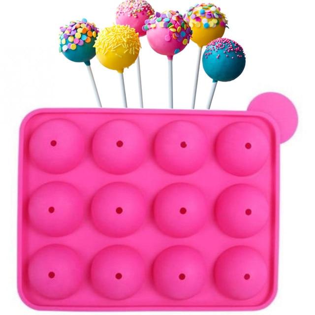 3d Double Round Shape Lollipop Chocolate Molds Happy Birthday Cake