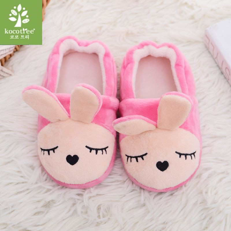2018 Kids Slippers Baby Girls Boys Children's Winter Shoes household good quality keep warm cartoon children shoes 0801