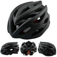Catazer Beleuchtete Fahrrad Reiten Kühlen Schwarz Helm MTB Rennrad Hut Matt Integral geformten Poröse Robust Helm Fahrradhelm    -