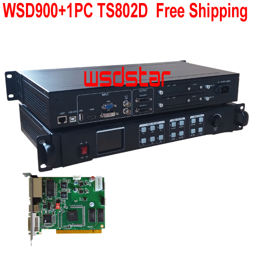 WSD900 1PC TS802D LED Video Processor input HDMI DVI VGA CVBS 1920 1200 Hot LED rental
