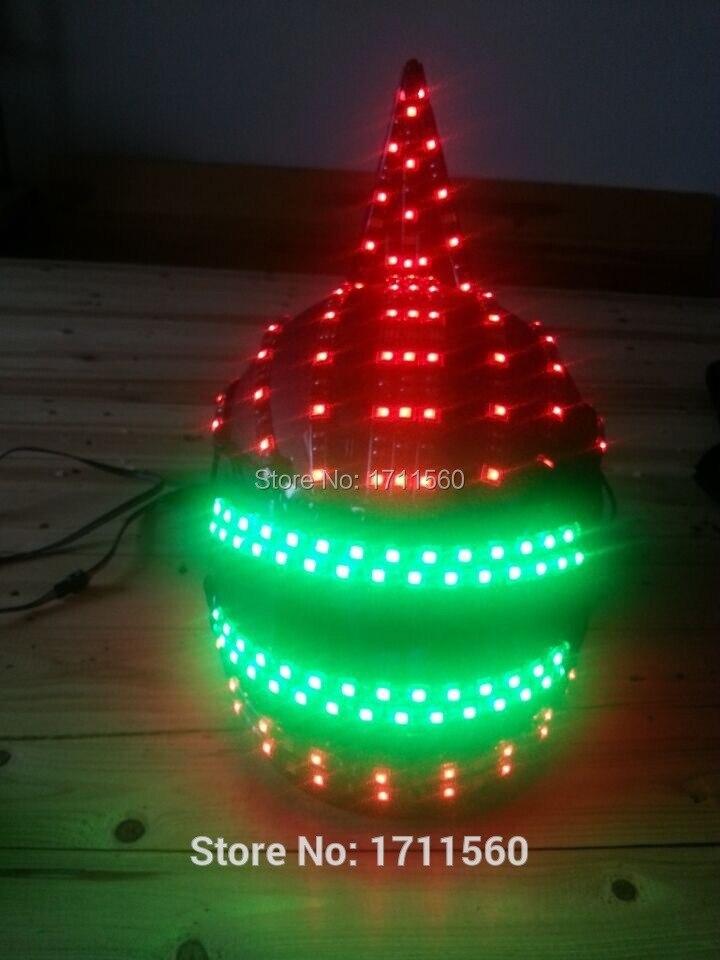 LED-hjälm / Lysande kostym / led Liten vinkelhjälm / Alexander robot / LED ROBDT