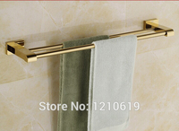 Newly US Free Shipping Wholesale And Retail Luxury Golden Polished Solid Brass 50cm Bath Towel Bars