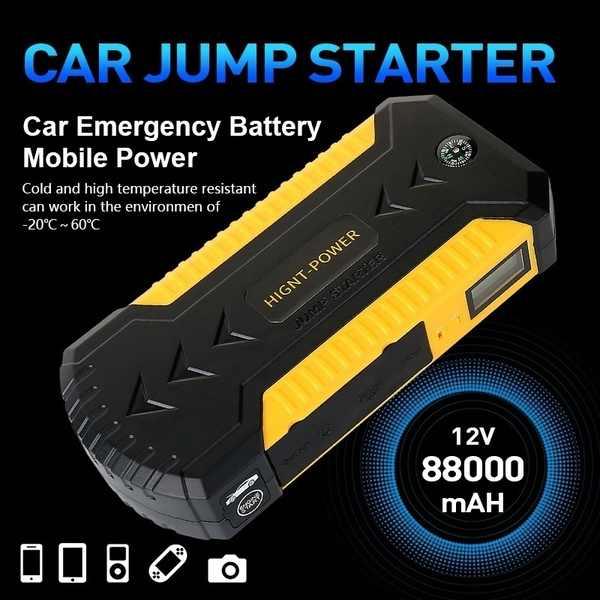"""9000Mah """""""" 12V """"غطاء خارجي للسيارة المحمول امدادات الطاقة السيارات سيارة تعمل بالبطارية الطوارئ الانتقال كاتب قوة البنك شاحن للكمبيوتر المحمول الهاتف"""