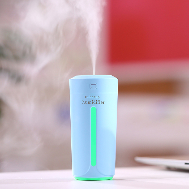 Creative Color Cup USB Air Humidifier for Home Car Ultrasonic Mini Aroma Diffuser Air Purifier with LED Lights Humidifier 5v led lighting usb mini air humidifier 250ml bottle included air diffuser purifier atomizer for desktop car