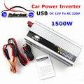 USB 1500 W Watt DC 12 V para AC 220 V Potência Do Carro Portátil Adaptador Conversor inversor Carregador DC 12 a AC 220 Modificado Sine onda