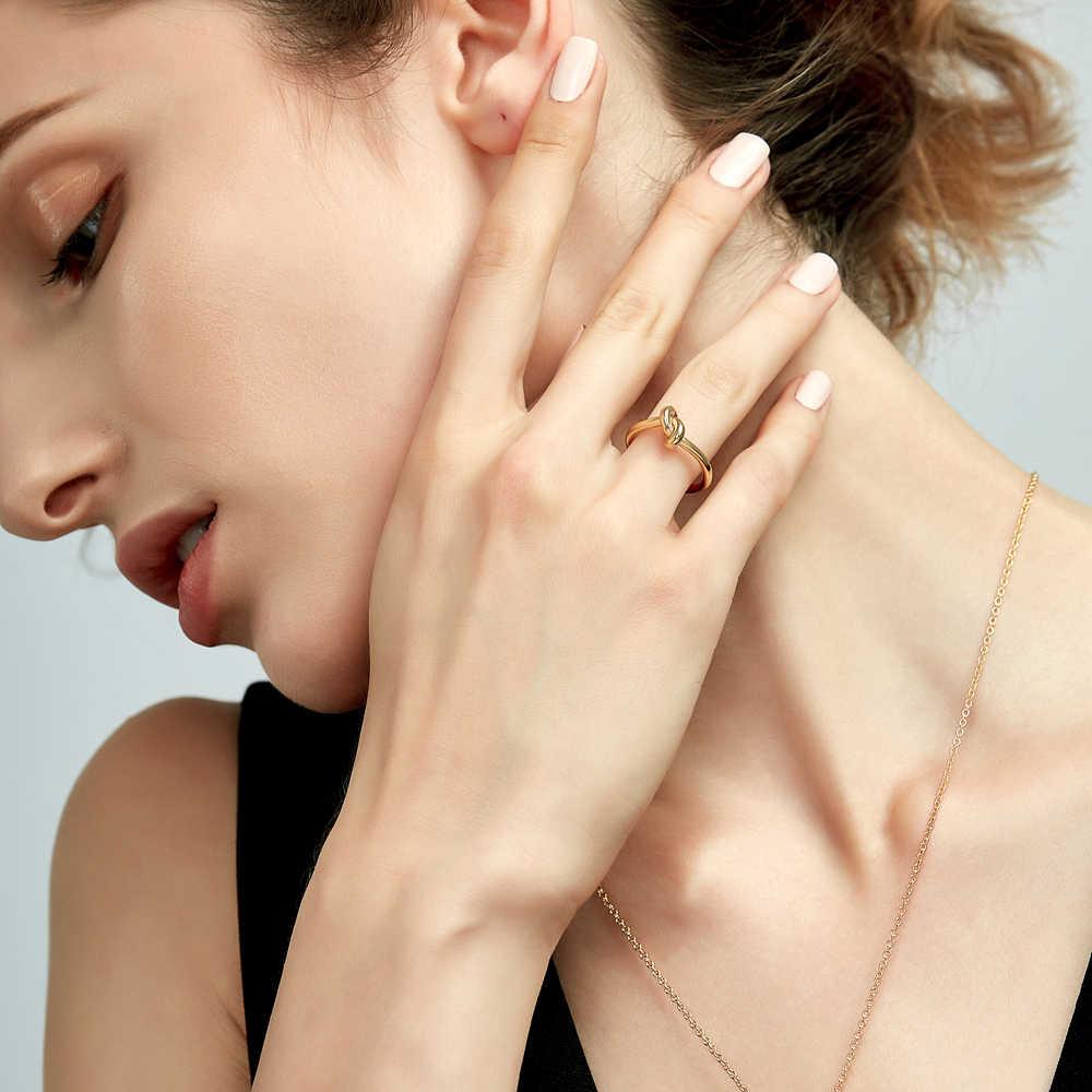 Enfashion ขายส่ง Knot แหวนสแตนเลส Rose Gold สี Midi แหวนแฟชั่นแหวน Knuckle สำหรับผู้หญิงเครื่องประดับ Bagues Anillos