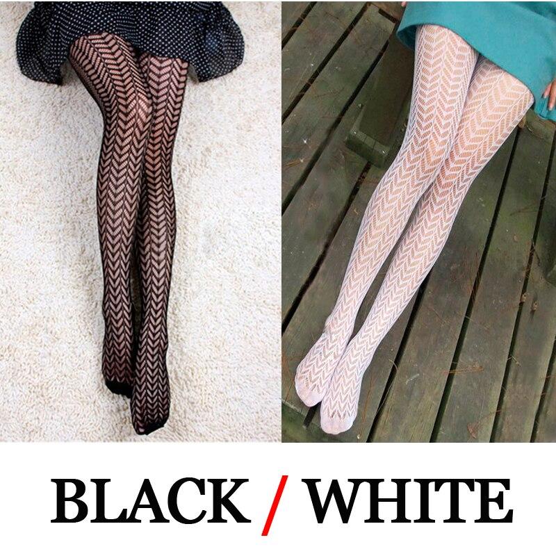 LIMSISNIW Wheat Design Pattern Fishnet Individual Women Black / White Tights Ladies Slim Looking Leaves Tatoo Fishnet Pantyhose