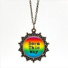 Metal Rainbow LGBT Pride Born This Way Jewelry