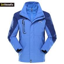 DrMundo Ski Jacket Men Waterproof Fleece Snow Jacket Two-piece Thermal Coat For Outdoor Mountain Skiing Snowboard Jacket Brand