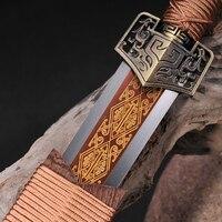 T10 Сталь меч красный полный тан лезвие Китайский Меч полностью ручной расширить и масло закаленных и ручной полировкой коллекция меч