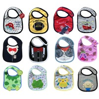 12pcs Lot Waterproof Baby Bibs Newborn Baby Girls Boys Babador Bib