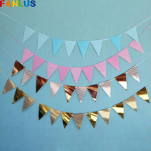 Rose Gold Banner Happy Birthday First Boy Baby Shower Decoration Pink Candy Bar Decoration Birthday Banner Unicorn Party Bunting все цены