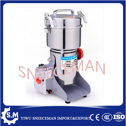 700g stainless steel swing type Chinese medicine grinder pulverizer flour mill superfine chinese herb medicine crushing machine high quality 300g swing type stainless steel electric medicine grinder powder machine ultrafine grinding mill machine