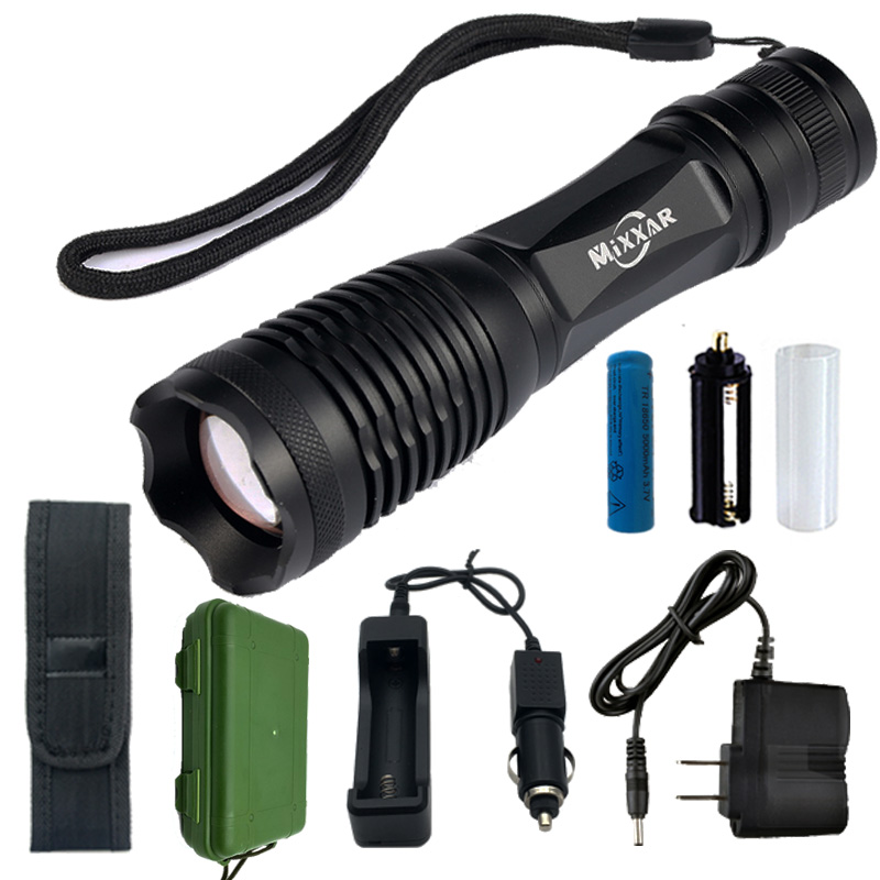 9000/9500LM Waterproof Flashlights LED Flashlight XM-L T6 L2 Torch 5 Mode Zoomable Lantern For 3x AAA or 3.7v 18650 Battery