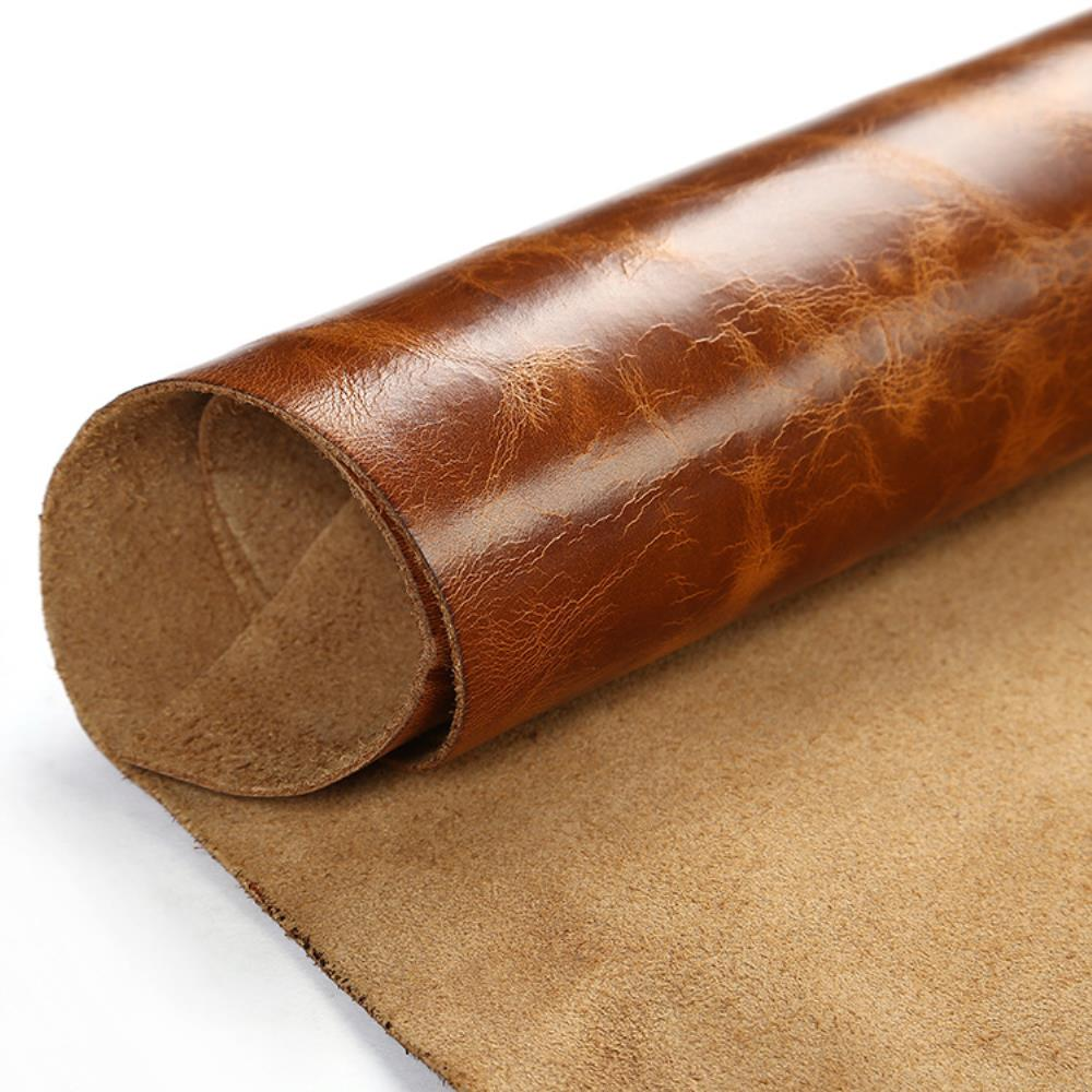Real Good Leather Thick Genuine Leather About 1.8 To 2.0 Mm Cowhide Light Bright Yellow DIY Art Craft Sewing Accessory