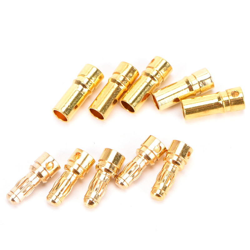 20 pairs 3 5 mm Gold plated Engine Banana Plugs font b Electronic b font Connectors