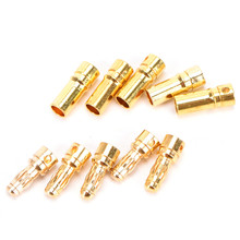 20 pairs 3.5 mm Gold-plated Engine Banana Plugs Electronic Connectors