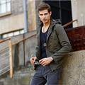2016 Новое пальто мужские 100% Хлопок повседневная марка одежды Свободные Молнии военный бомбардировщик куртка мужчины Вышивка стиль Твердых 4XL