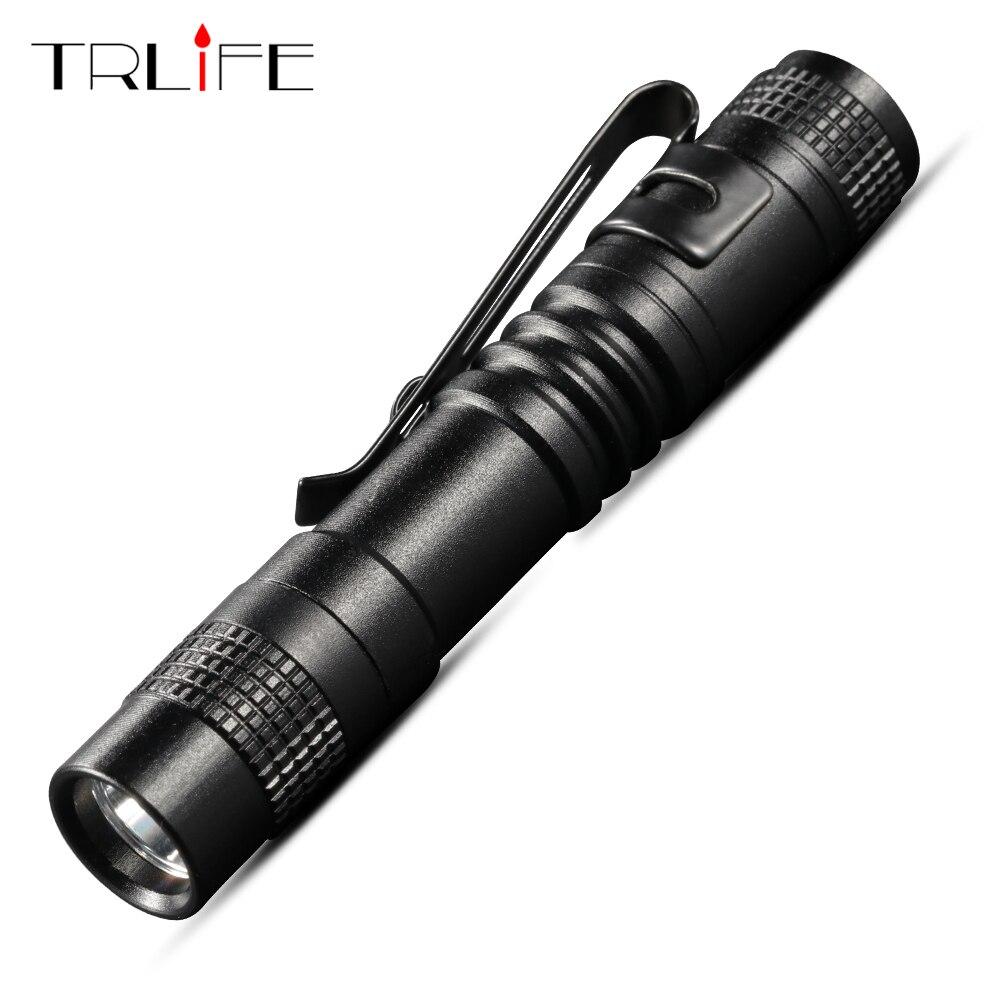 Portable Penlight Mini LED Flashlight Torch Pocket Light Waterproof Lantern Use AAA Battery Power Led