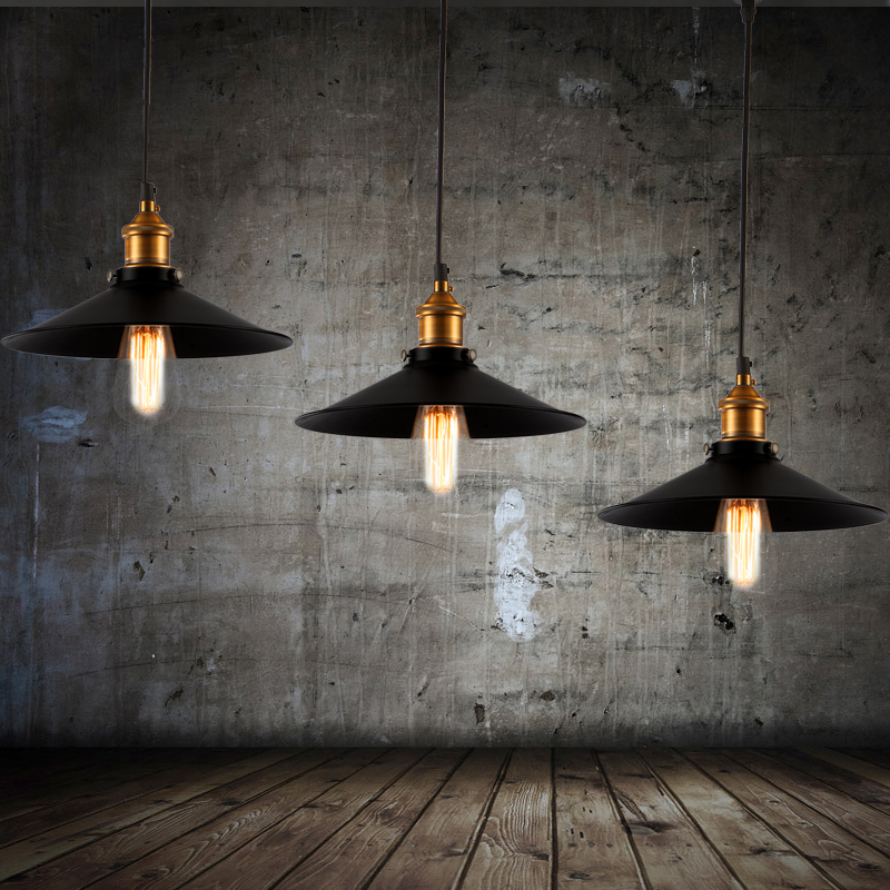 Old bronze vintage bar pendant lamp edison retro lamp black shade old bronze vintage bar pendant lamp edison retro lamp black shade kitchen island light design pendant lamp rope pendant lighting in pendant lights from mozeypictures Images