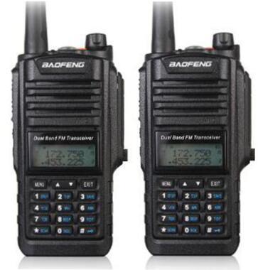 2 stks Baofeng BF A58 radio walkie talkie waterdichte IP 67 UHF VHF dual band CB radio voor jacht 5 W 128CH transceiver