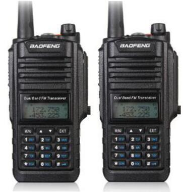 2pcs Baofeng BF A58 radio walkie talkie waterproof IP 67 UHF VHF dual band CB radio for hunting 5W 128CH transceiver
