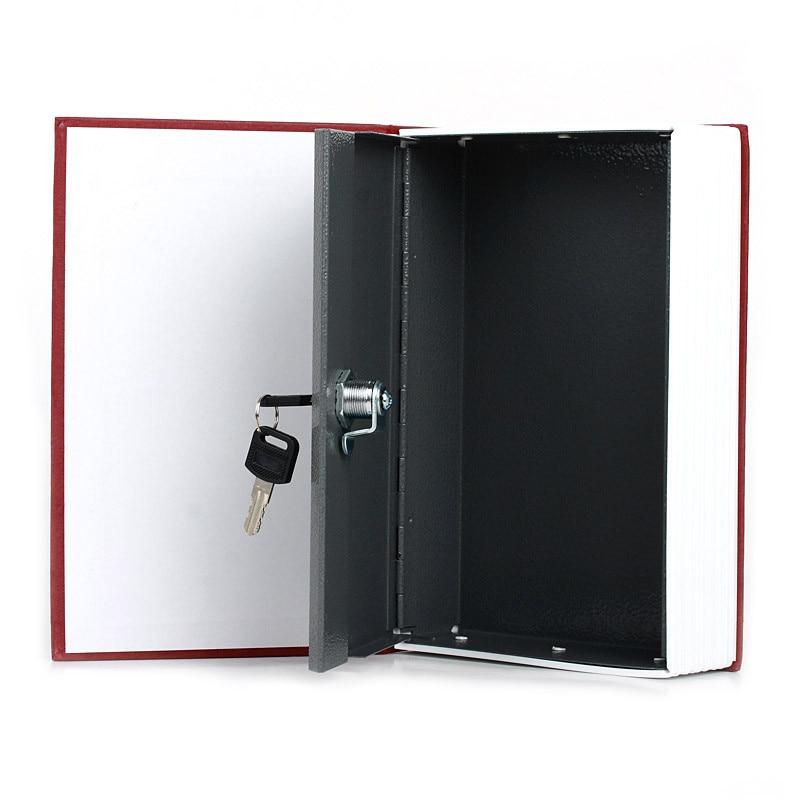 Dictionary Book Secret Hidden Security Safe Lock Cash Money Jewellery Locker Storage Box Size 4 Colors for Choice