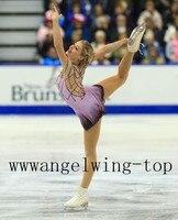 Girls Ice Skating Dresses Custom Figure Ice Skating Dress Women Competition Skating Dresses Free Shipping J84