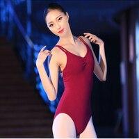 Women Backless Sleeveless Ballet Leotards For Women Ballet Dancewear Adult Dance Costume Gymnastics Leotard