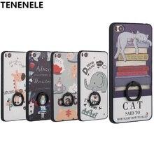 TENENELE Case For Xiaomi Mi 5S Fashion Silicone TPU Cartoon 3D Relief Cover Case With Finger Ring Coque Funda mi5S Phone Case