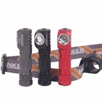 Manker E02H AAA Headlamp 220lm CREE XPG3 / Nichia 219C LED Head Light with Headband Angle Flashlight w/ Magnet, Reversible Clip