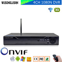 4CH 1080N 5 in 1 Hybrid AHD DVR Video Recorder With wifi 3G PPPOE 1080P 960P 720P 960H Hi3520D XVI TVi CVI IP NVR CCTV Camera