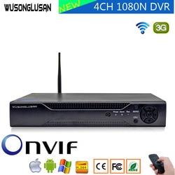4-канальный 1080P 6 в 1 Гибридный AHD DVR видеорегистратор с wifi 3G PPPOE 1080P 960P 720P 960H Hi3520D XVI TVi CVI IP NVR CCTV Камера