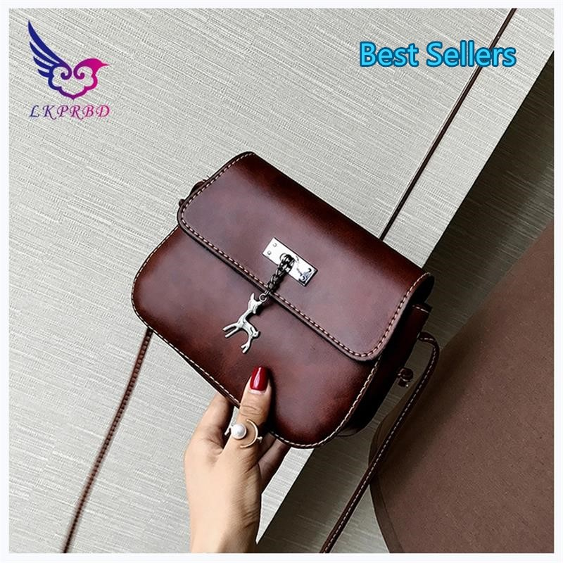 Lkprbd new women messenger bag Retro Leather Small Handbag luxury handbag designer high quality fashion hot lady Satchel Bag