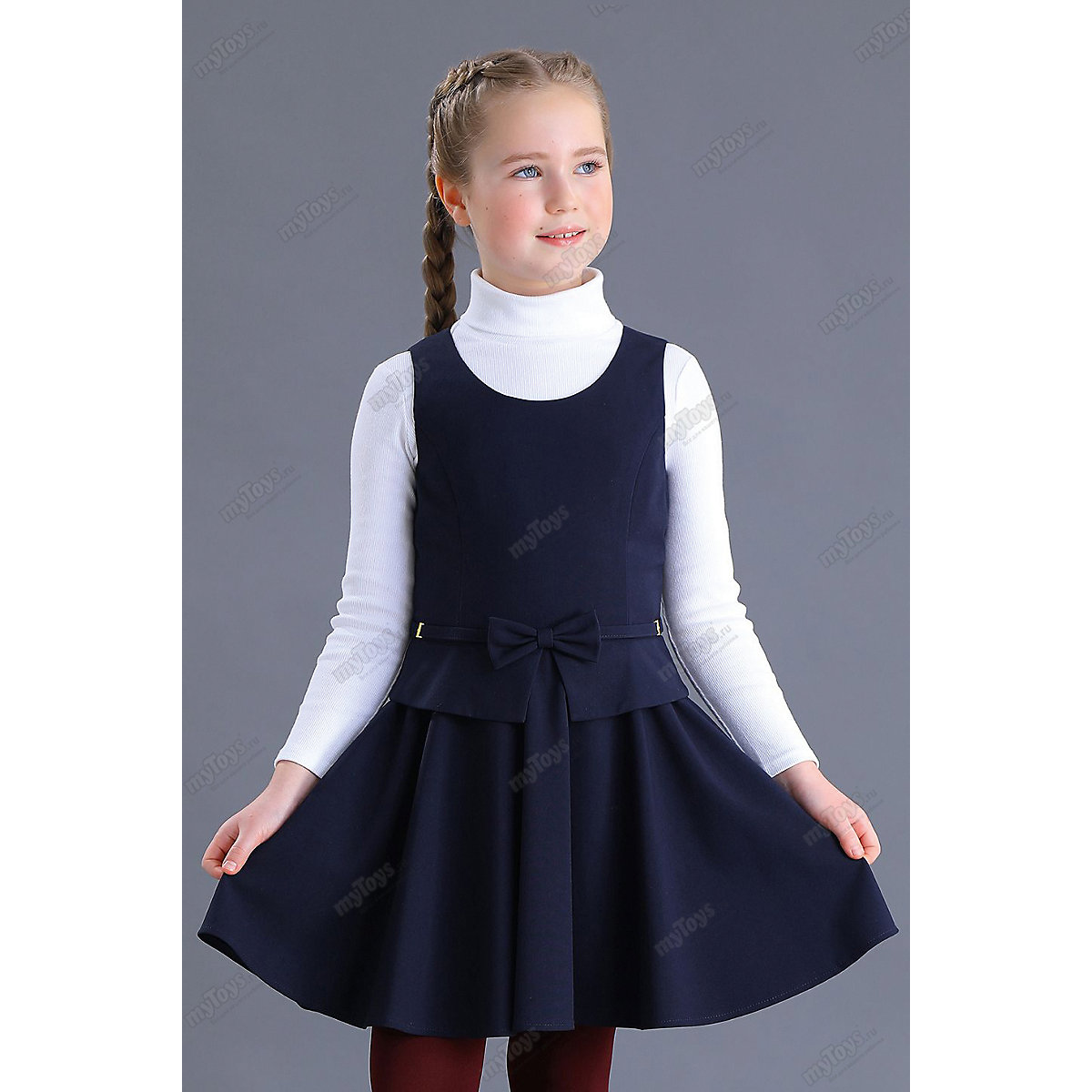 МАЛЕНЬКАЯ ЛЕДИ Dresses 11685478 school uniform dark blue for girls Formal Sleeveless Bow black sexy lace up design plain halter sleeveless crop top
