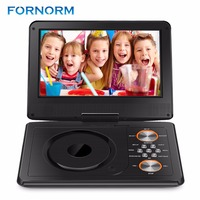 FORNORM Mini DVD Player Portable DVD Player CD Player Remote Charge Battery Car Charger AC Adapter