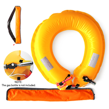 Automatic Manual Inflatable Life Buoy Belt Whistle lifebuoy Outdoor Boarding Swimming Vest Accessories with Retroreflector
