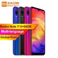 XIAOMI Redmi Note 7 6GB RAM 64GB ROM Smartphone S660 Octa Core 6.3 FullScreen 2340 x 1080 4000mAh 48MP+13MP Camera Mobile Phone