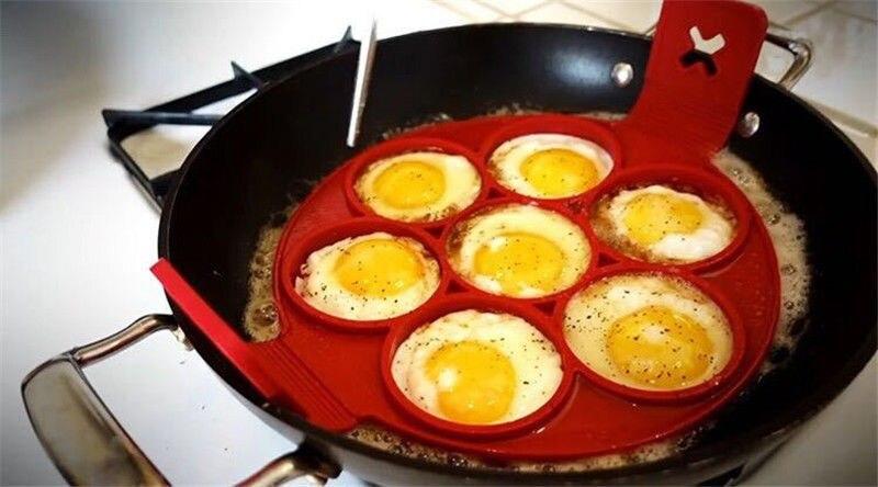 Nonstick Pancake Maker Egg Ring Maker Perfect Pancakes Easy Silicone Egg Pancake Mold Egg Tools