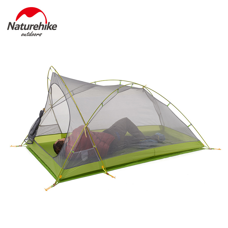 Naturehike Tent Camping 2 Person Rainproof 20D Silicone Double Layer Hiking Beach Picnic Holiday Outdoor 2 Colors Camp Tent 2