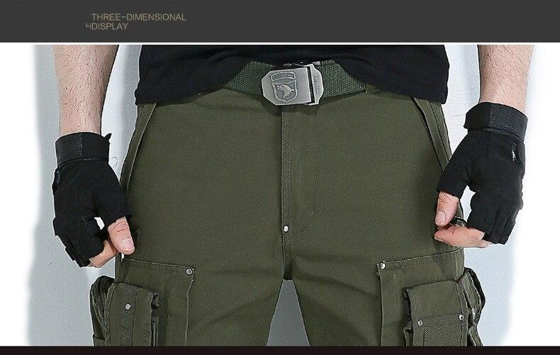 Esporte Casal Militar Multi-bolsos Plus Size Calças Táticas