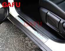 Stainless steel Door Sill scuff plate Door pedal Car Accessories Car-Styling For Nissan X-Trail XTrail T32 2018 2017 2016 2014 stainless steel inner door sill scuff plate for 2008 2012 2013 nissan x trail x trail welcome pedal threshold car accessories