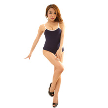 High Quality Women Sexy Costumes Erotic Lingerie Sleepwear Set Sex Dolls Pajamas for Women Black White Solid Colour SY052