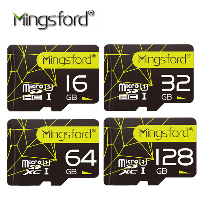 Mingsford brand High Speed 16G 32G 64G 128G SD TF Memory Card Flash SD Card Class 10 Storage Expansion for SmartPhone Camera  on AliExpress