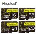 Mingsford alta velocidad 16g 32g 64g 128g de memoria sd tf tarjeta Flash SD Class10 de Tarjeta de Expansión De Almacenamiento para SmartPhone Cámara promoción